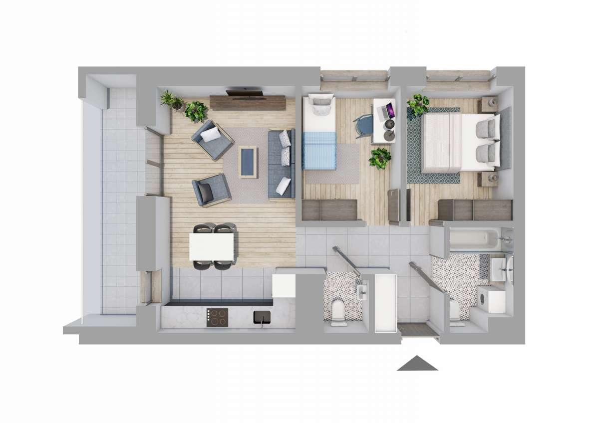 Mieszkanie 55,17 m2, Graniczna, Rzeszów