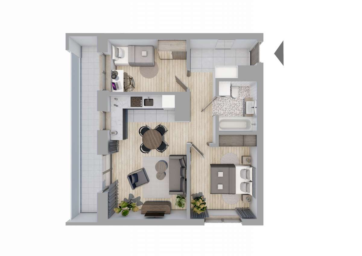 Mieszkanie 56,54 m2, Graniczna, Rzeszów