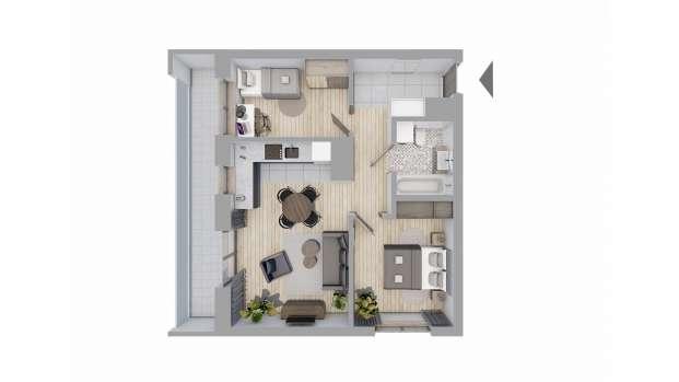 Mieszkanie 56.54 m2