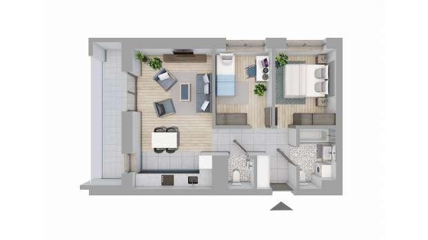 Mieszkanie 55.17 m2