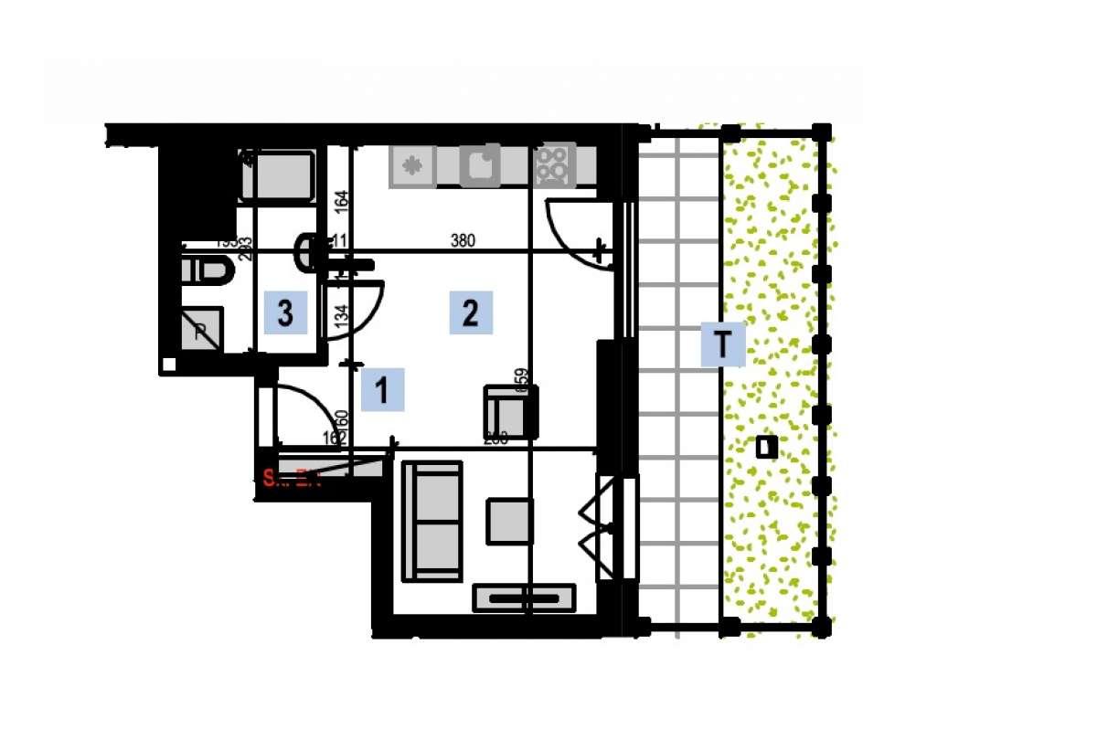 Mieszkanie 29,1 m2, Kwiatkowskiego 4, Rzeszów