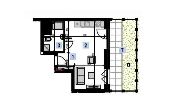 Mieszkanie 29.10 m2