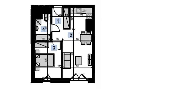 Mieszkanie 57.03 m2