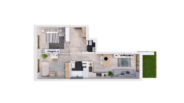 Mieszkanie 58.42 m2