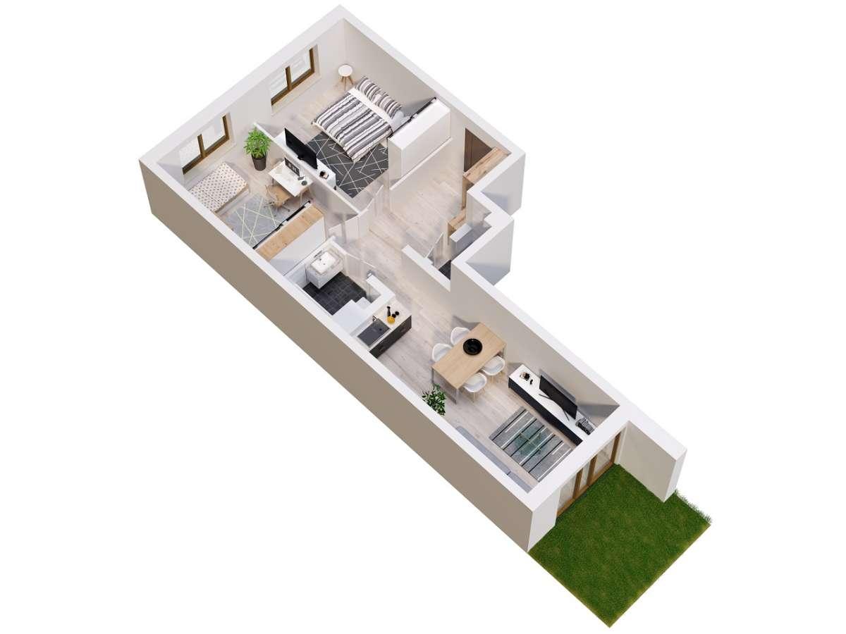 Mieszkanie 58,42 m2, Lubelska, Rzeszów