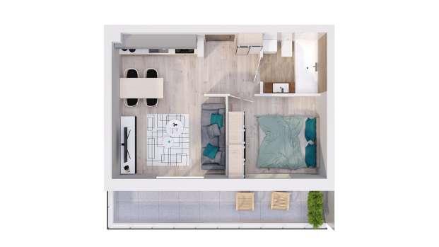 Mieszkanie 33.07 m2
