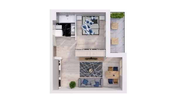 Mieszkanie 37.53 m2