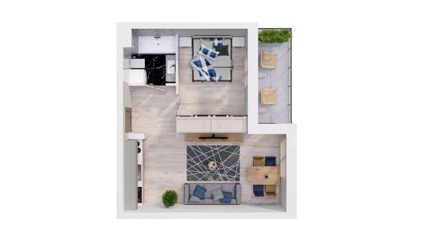 Mieszkanie 37.95 m2