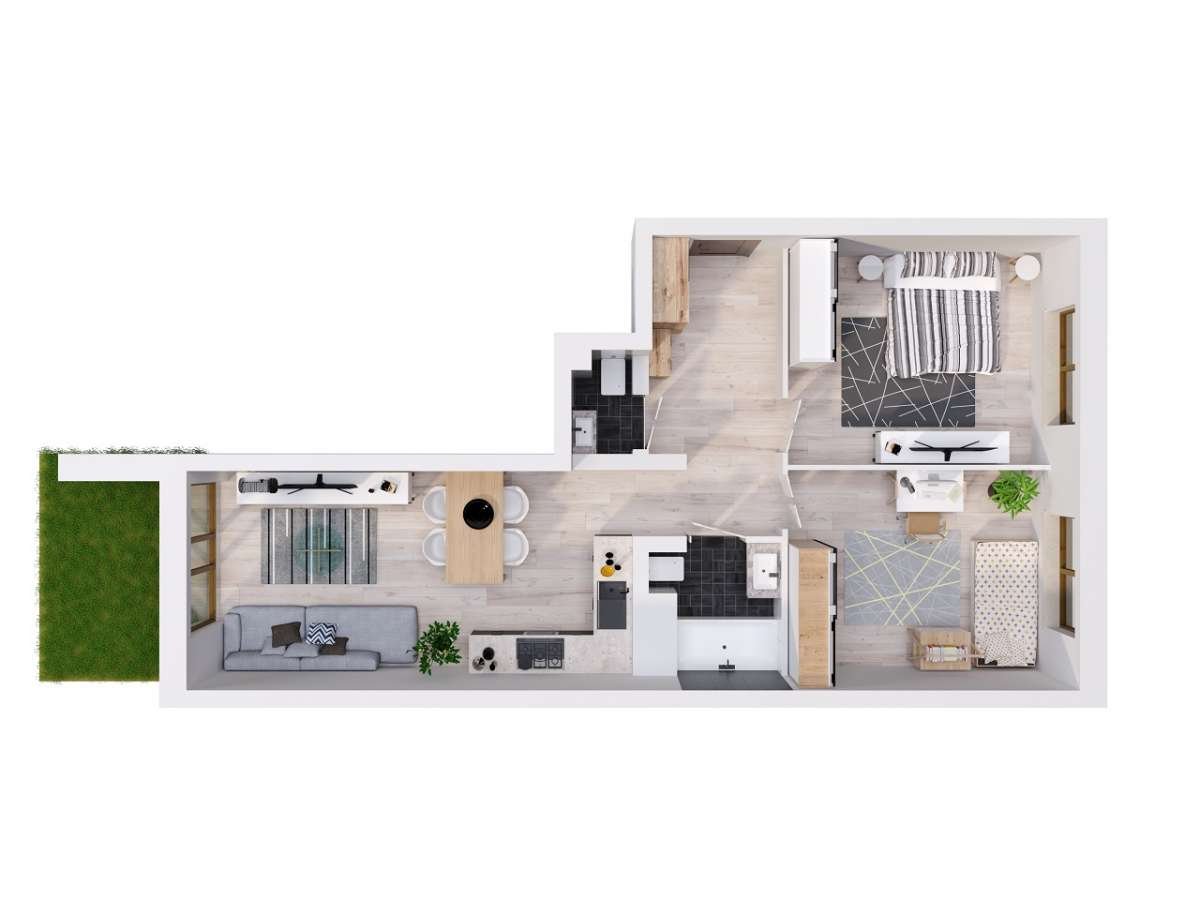 Mieszkanie 59,19 m2, Lubelska, Rzeszów