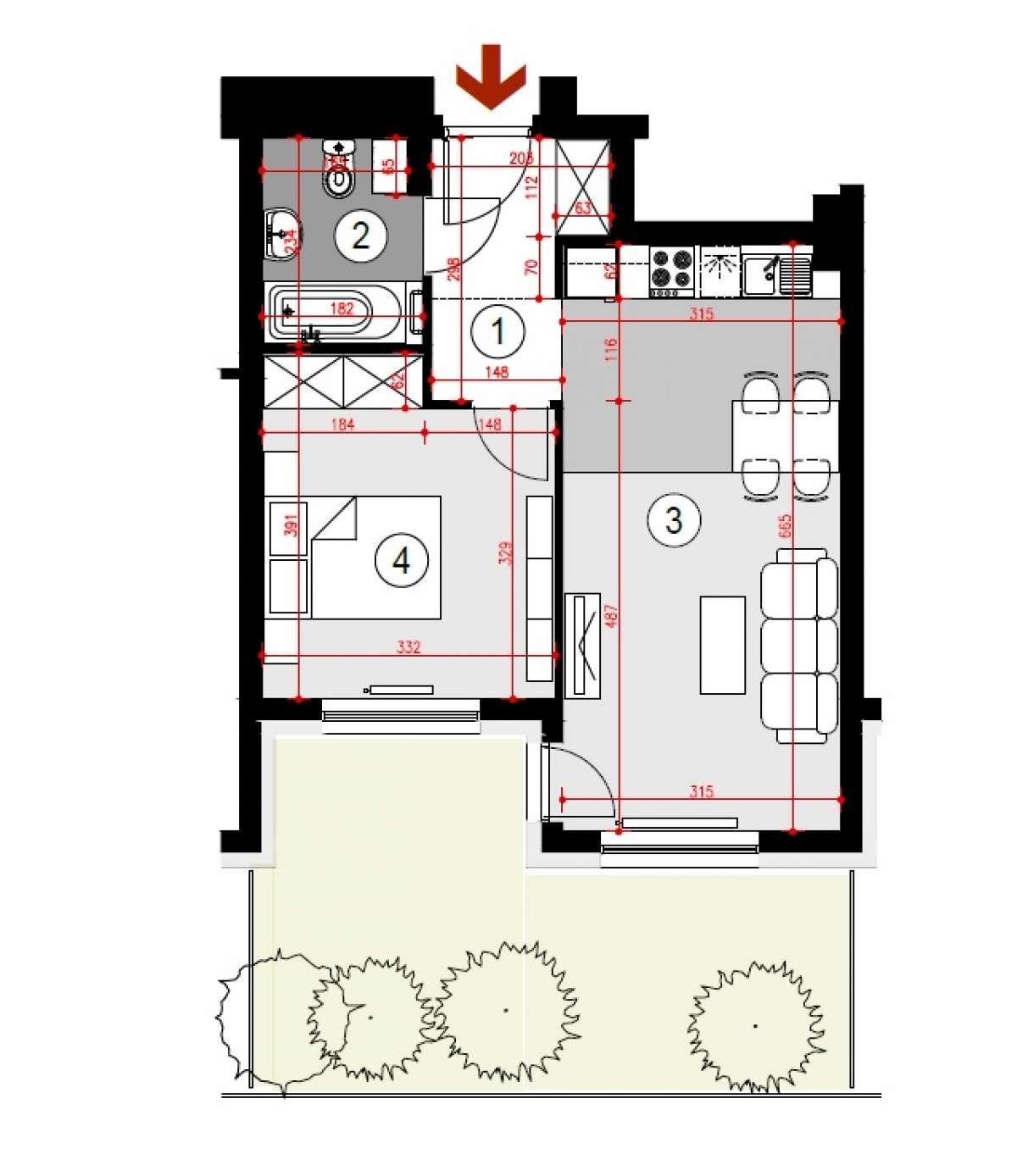 Mieszkanie 41,51 m2, Lubelska, Rzeszów