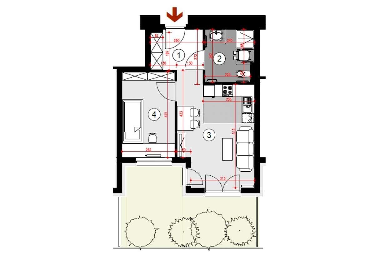Mieszkanie 41,57 m2, Lubelska, Rzeszów