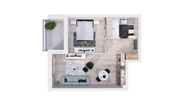 Mieszkanie 41.51 m2