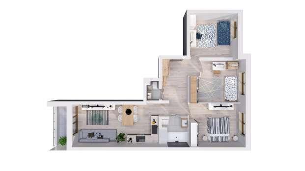 Mieszkanie 68.58 m2