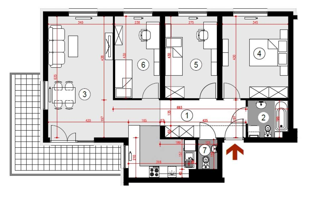 Mieszkanie 83,61 m2, Lubelska, Rzeszów