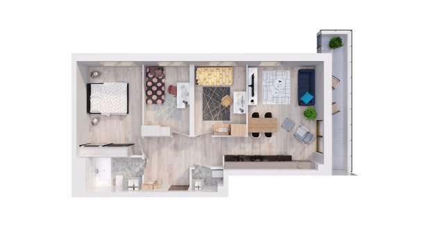 Mieszkanie 68.75 m2