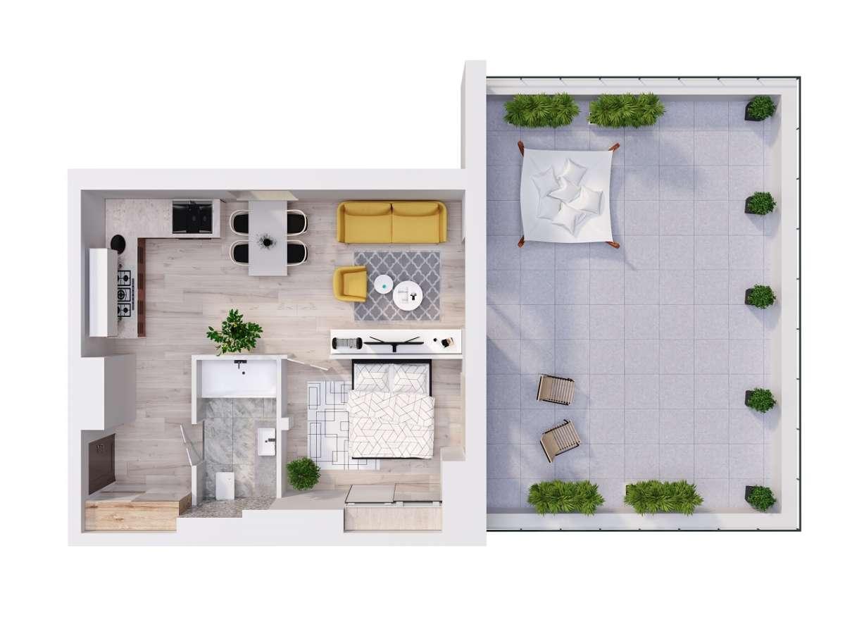 Mieszkanie 42,52 m2, Lubelska, Rzeszów