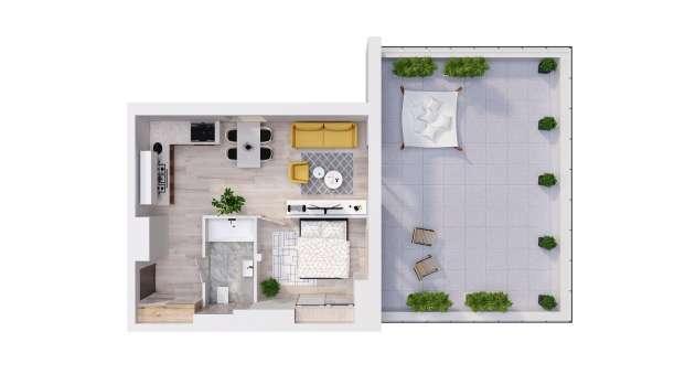 Mieszkanie 42.52 m2