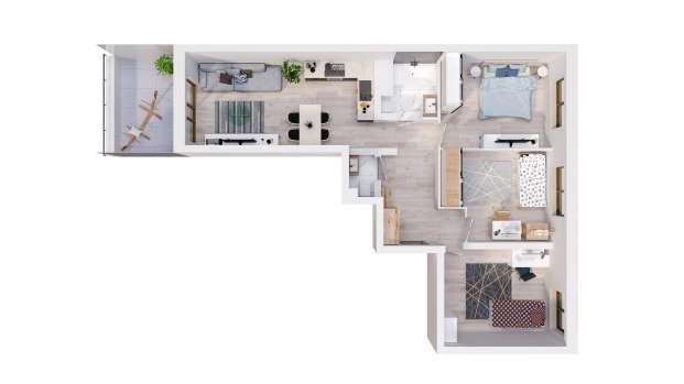 Mieszkanie 70.66 m2