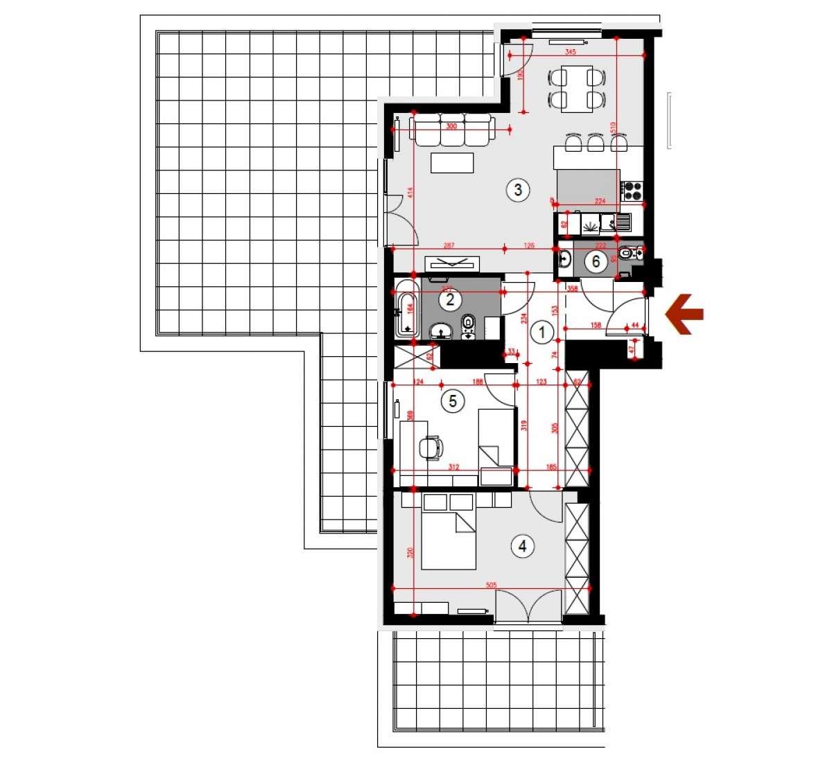 Mieszkanie 75,81 m2, Lubelska, Rzeszów