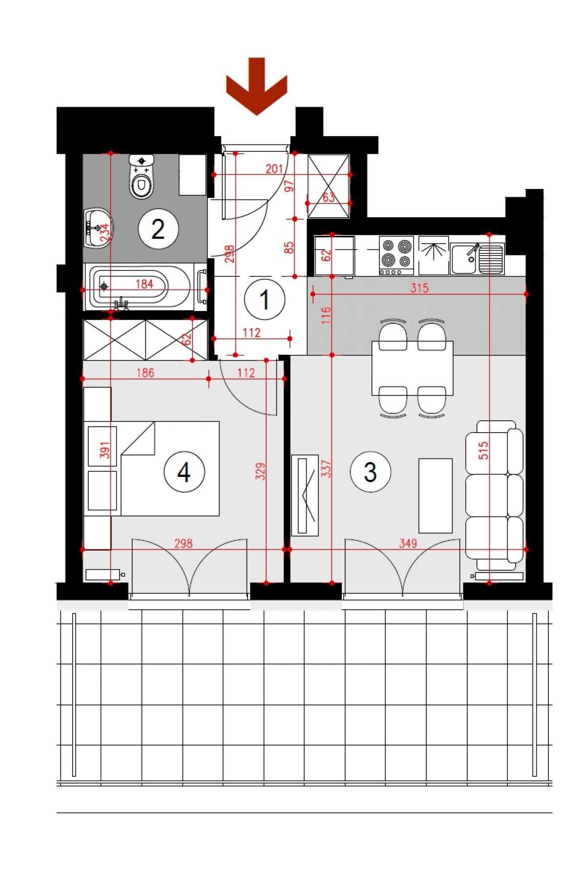 Mieszkanie 36,85 m2, Lubelska, Rzeszów