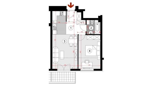 Mieszkanie 46.51 m2
