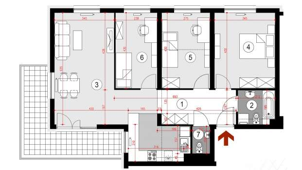 Mieszkanie 83.61 m2