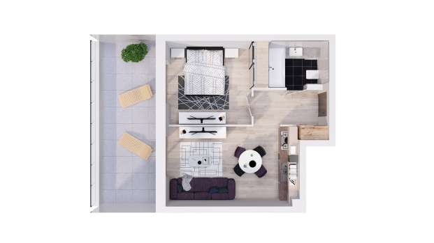 Mieszkanie 36.85 m2